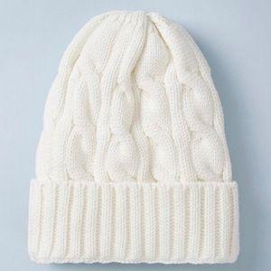 🆕 Cuffed Lined Warm Winter Hat Beanie New Cream